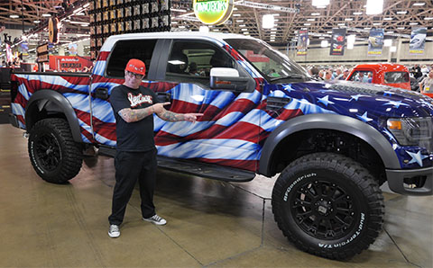 Flag Painted Ford Raptor